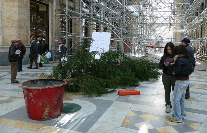 Anche nel 2007 l'albero finisce sul pavimento lucido della galleria