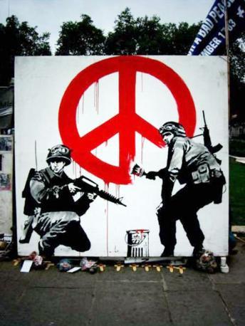 Un murales di Banksy a Londra