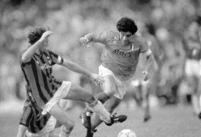 Maradona con Baresi