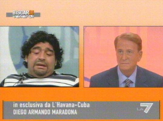 Diego Maradona in collegamento da Cuba con Biscardi