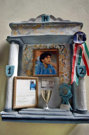 La cappella votiva di Maradona al centro storico
