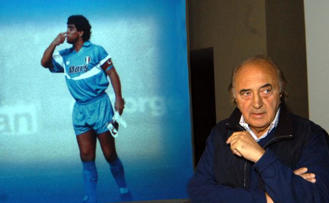 Corrado Ferlaino visita la mostra di Diego Armando Maradona