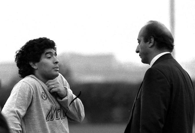 Luciano Moggi e Diego Maradona