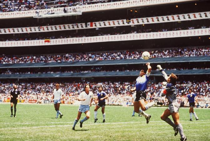 La «mano de dios» in Argentina-inghilterra, Messico '86