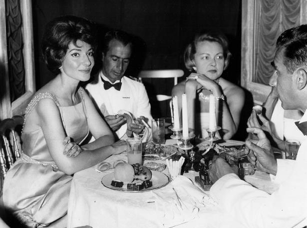Maria Callas a Palazzo Serra di Cassano la sera del 3 settembre 1960