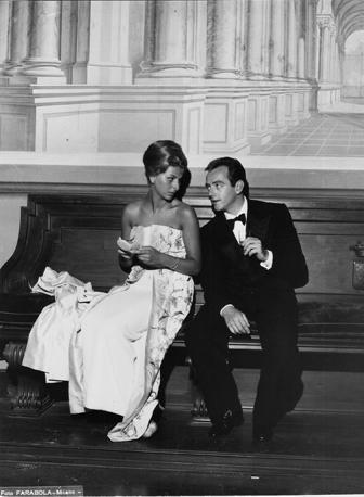 La principessa Ines Theodoli e il principe Giovanni Torlonia durante la festa del 3 settembre 1960