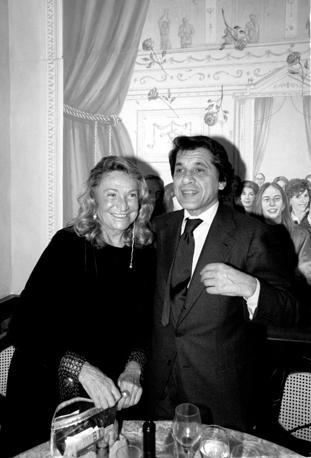 Marta Marzotto e Toni Petruzzi al ristorante Rossini