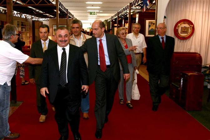 Fiera della Casa: Andrea Cozzolino con Enrico Cardillo, Raffaele Cercola e il presidente della Meridiana Fiere Enzo Petriccione