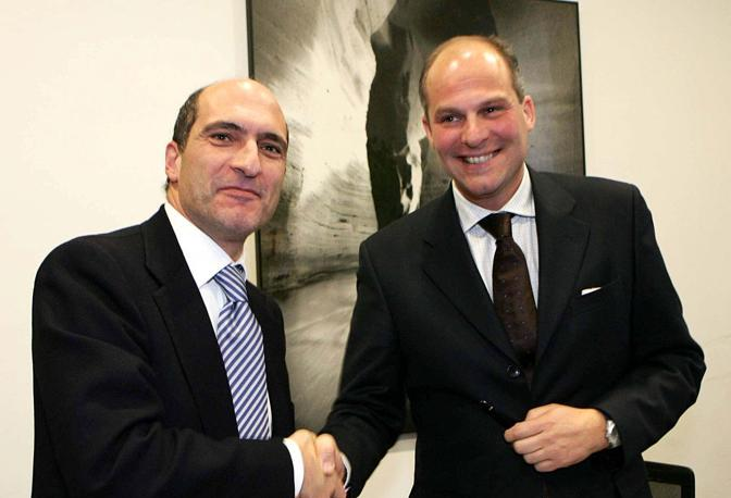 Cozzolino e l'amministratore delegato di Ikea Italia Robero Monti
