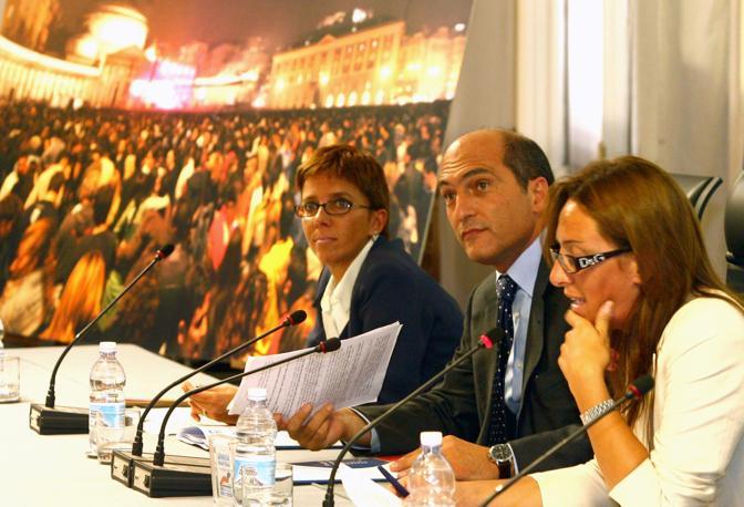 Notte Bianca 2006 Conferenza stampa di presentazione con Giovanna Martano, Andrea Cozzolino e Valeria Valente