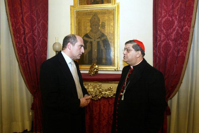 Con il cardinale Crescenzio Sepe