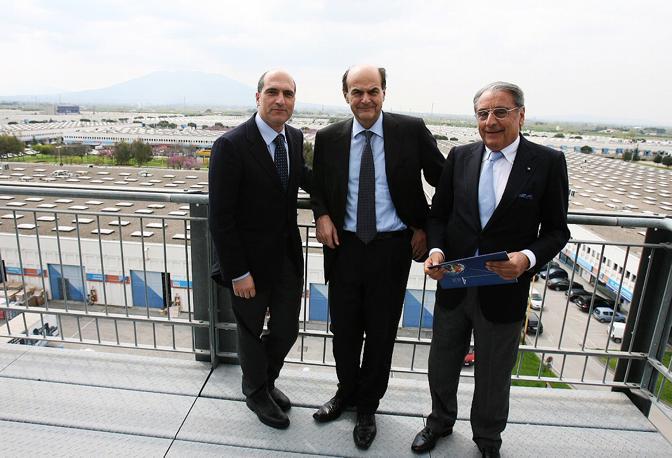 Con Bersani e il Presidente del CIS-Interporto di Nola Gianni Punzo