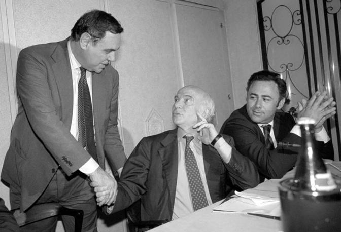 Clemente Mastella, Paolo Cirino Pomicino e Riccardo Villari