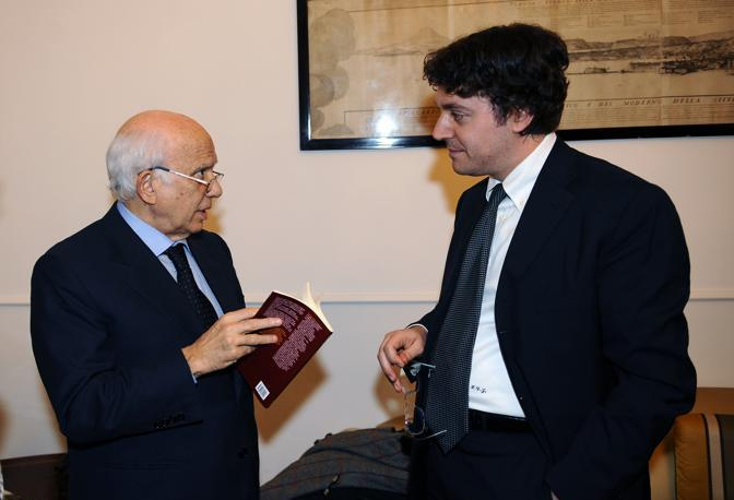 Paolo Cirino Pomicino con Francesco Delzio