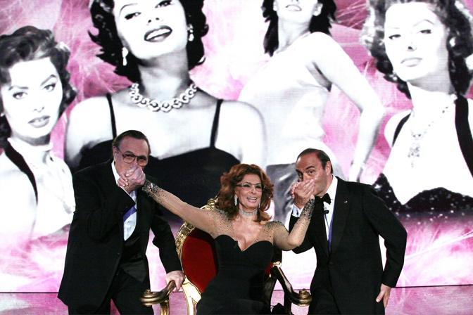 Pippo Baudo Bruno Vespa Sophia Loren