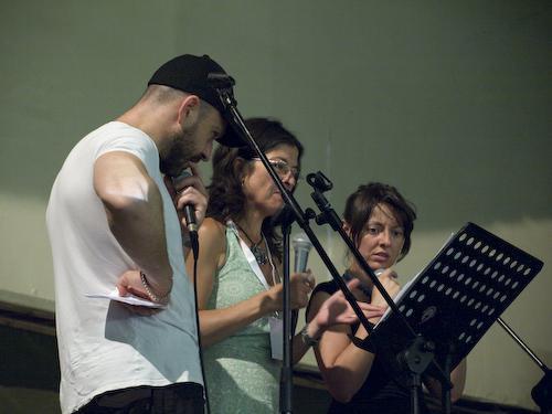 Riaz, Maria Pia De Vito, Meg prove concerto per Pomigliano Jazz 08