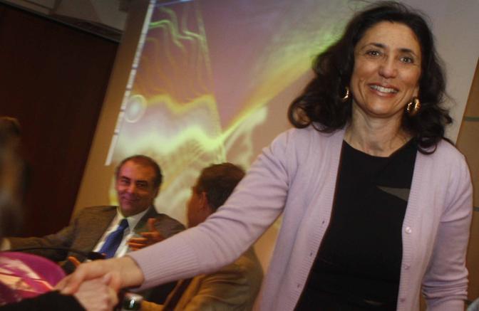 Bianca D'Angelo, moglie di Rivellini, oggi consigliere regionale