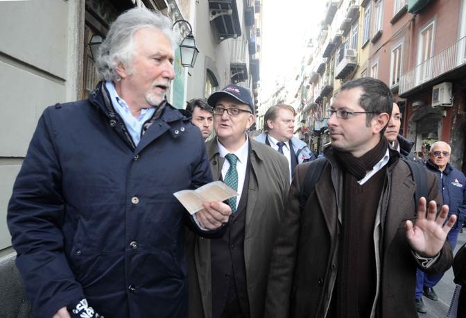 Borghezio Rivellini e Borrelli a Napoli
