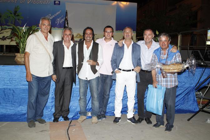 Con Baldini il sindaco Marcheggiani e il vicesindaco Manuel Borrelli