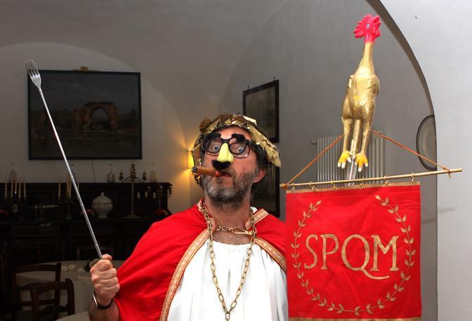 La foto ufficiale con il pollo imperiale