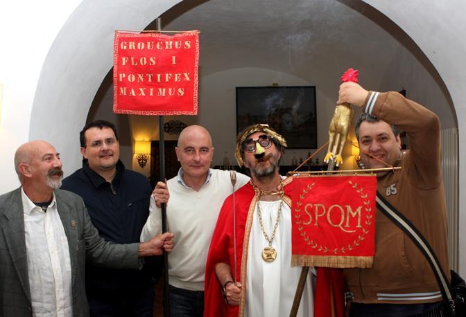 I pretoriani dell'Imperatore: da sinistra Cienfuegos, Paolo Barrale,  Gimmo Cuomo e Giovanni Mariconda