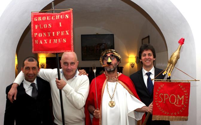Da sinistra: Luigi Casciello, Gimmo Cuomo, Grouchus Flos e Eduardo Buonocore