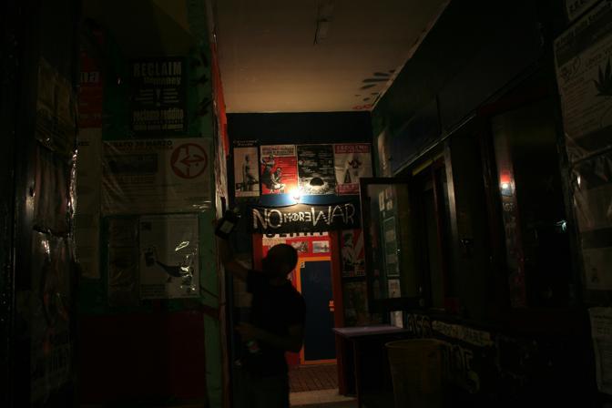 La sala del secondo piano, sullo sfondo la regia di RadioLina