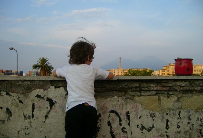 La vista dal terrazzo del centro sociale