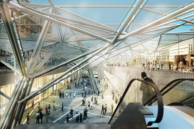 I rendering di Metropolitana Milanese, partner di Metronapoli nel progetto della Napoli del futuro