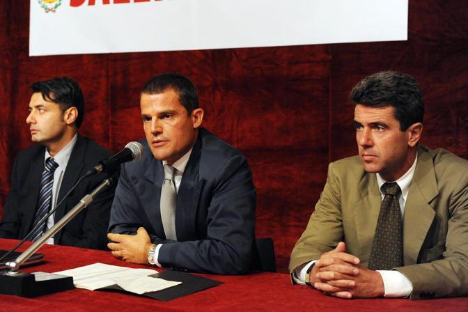 La conferenza stampa di presentazione dell'organigramma della Salerno Calcio