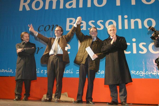 con Romano Prodi e Antonio Bassolino ad Aversa