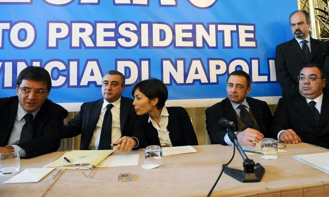 Presentazione di Luigi Cesaro candidato PDL alla Provincia con Paolo Russo, Mario Landolfi, Nicola Cosentino, Mara Carfagna, Luigi Bobbio, Sergio De Gregorio