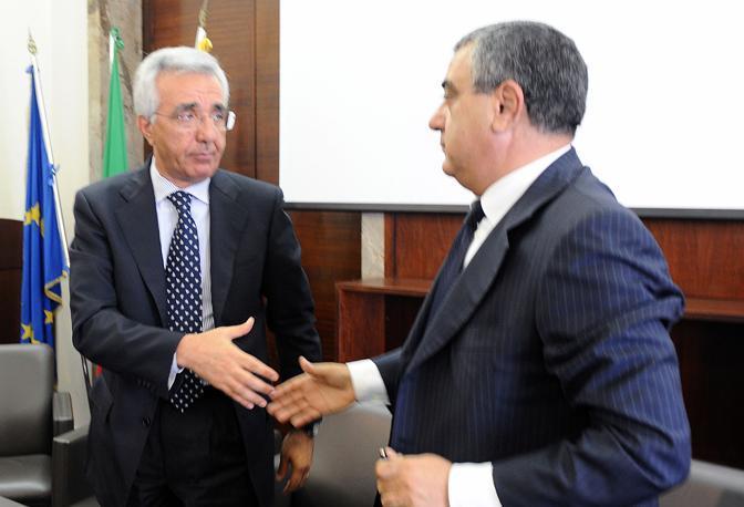 Luigi Cesaro con Di Palma, presidente uscente