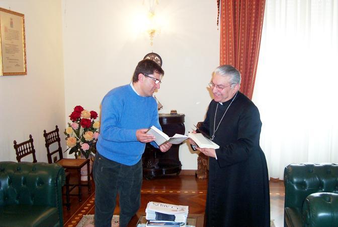Nicola Cosentino e Monsignor Pietro Farina vescovo di Alife e Caiazzo