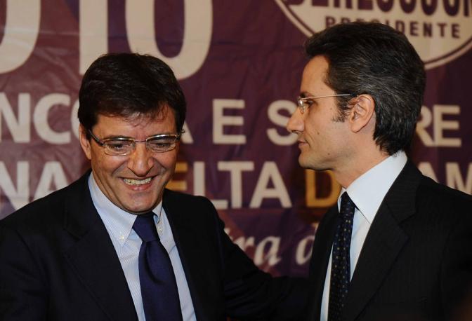 La presentazione di Stefano Caldoro candidato del PDL alla regione Campania con Nicola Cosentino