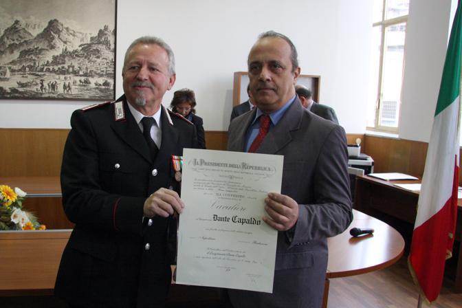 Con Dante Capaldo luogotenente arma dei carabinieri