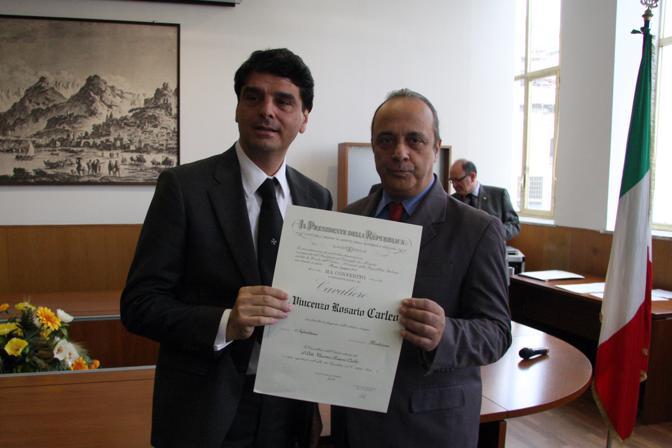 Con Vincenzo Rosario Carleo funzionario prefettura