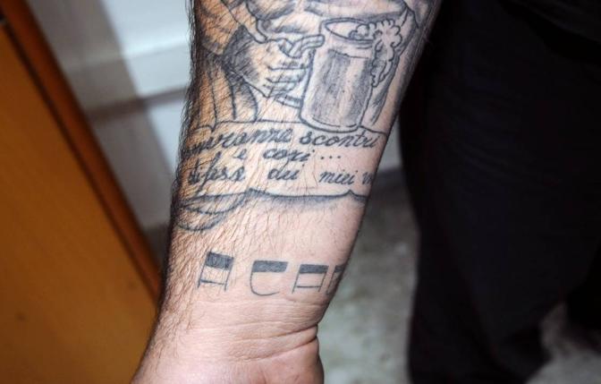 Tatuaggi E Armi Degli Ultras Corrieredelmezzogiorno