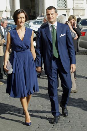 Nella foto Mara Carfagna e l'ex marito Marco Mezzaroma