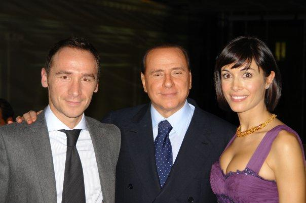 Antonio Russo e Mara Carfagna con Silvio Berlusconi