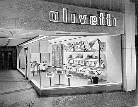 Olivetti showroom in Svizzera 1957