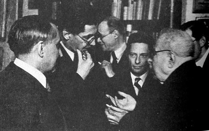 Inagurazione istituto per gli studi storici - Dante Petaccia - Carlo Antonio - Riccardo Filangieri - Guido Cortese - Benedetto Croce