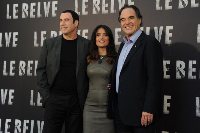 John Travolta Salma Hayek Oliver Stone (Lapresse)