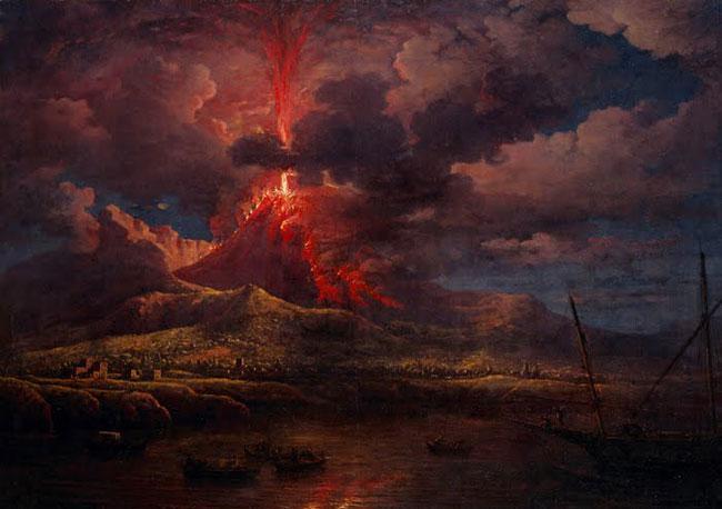 Una ricostruzione dell'eruzione del 79 d. c. che distrusse Pompei ed Ercolano