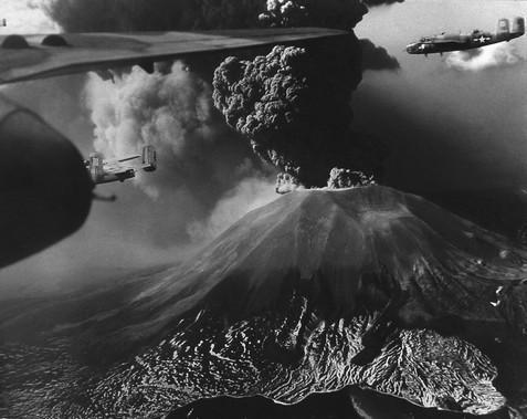Immagini dell'eruzione più recente, quella del 1944