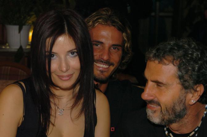 Adriano Pappalardo con il figlio Laerte e Selvaggia Lucarelli