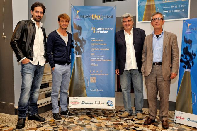 Napoli Film Festival 2014 Francesco Prisco Giorgio Pasotti Gianfelice Imparato e Antonio Milo