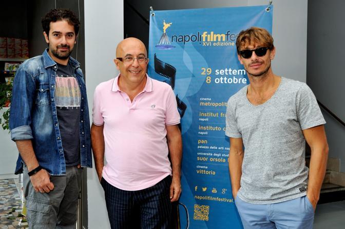 Napoli Film Festival Parole di cinema Incontro con Francesco Prisco Giorgio Pasotti al centro Augusto Sainati