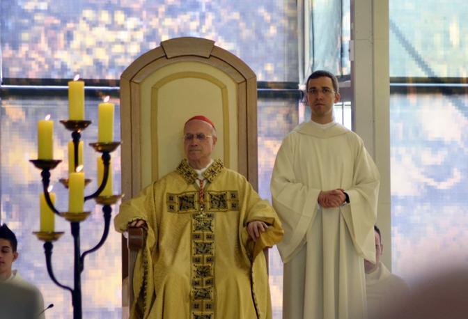 Messa celebrata da Tarcisio Bertone, cardinale segretario di Stato della Città del Vaticano, per i dieci anni della santificazione di Padre Pio