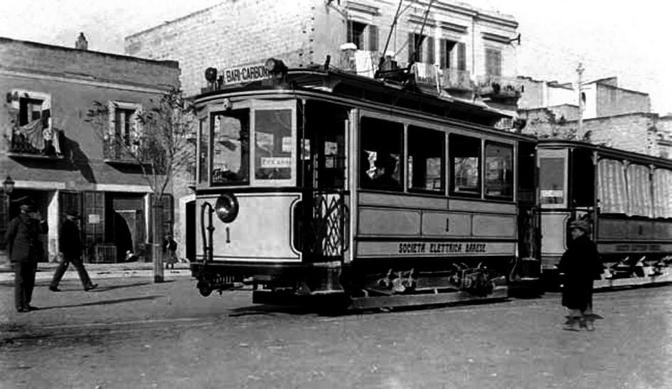 Il tram per Carbonara nel 1919